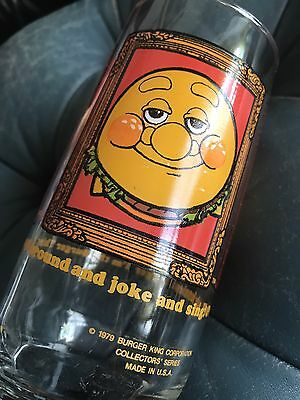 1979 Burger King Collectible Vintage Smiling Burger Thing Glass