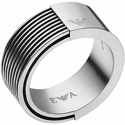 Emporio Armani Egs2073040 Men's Stainless Steel Flow Ring Size 10 /11 / 11.5