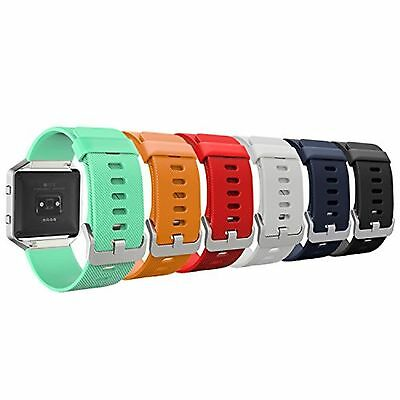 Fitbit Blaze Accessory Band MoKo [6 PACK] Colorful Soft Silicone Adjustable R...