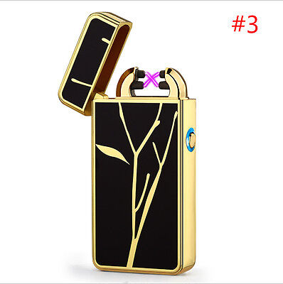 Electric Dual Arc Plasma Pulse Lighter USB Rechargeable Windproof Flameless #3