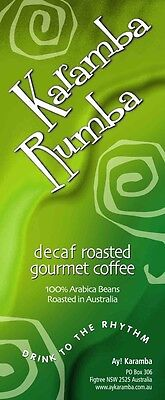 1Kg Decaf Roasted Columbian Gourmet Coffee Beans - Karamba Rumba