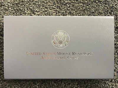 Two Coin 1991 Mount Rushmore Anniversary Proof Coins - 50c & Silver Dollar