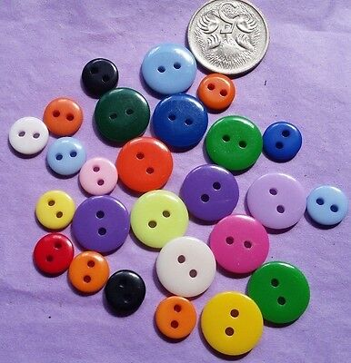 Colourful Buttons Small And Medium Mix- Lovely!