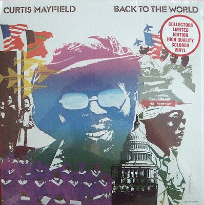 """Curtis Mayfield """" Back To The World """" *** Coloured Vinyl *** Sealed U.s.lp"""