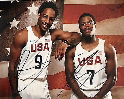6179aecaa4e3 Kyle Lowry Demar Derozan Signed Autographed 8x10 Photo Toronto Raptors Team  USA