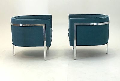 Signed Lounge Chairs by Harvey Probber Mid Century Modern vintage