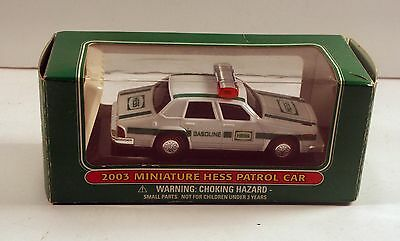 Patrol Car from Hess in box 2003 miniature series has display stand