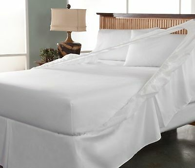Tailor Fit Easy On/Off Bedskirt and Box Spring Protector, King, White