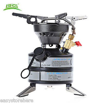 New BRS - 12A Portable Gas Stove Burner Travel Outdoor Tool for Camping Hiking