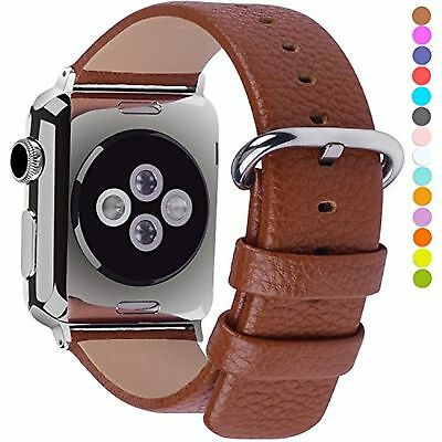Apple Watch Bands 38mm Fullmosa Yan Series Lichi Calf Leather Strap Replaceme...