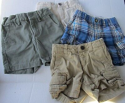 ALL 4 GAP Lot Of boys Chino Cargo Plaid Shorts 12-18 Months