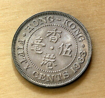 1963 Hong Kong 50 Cents