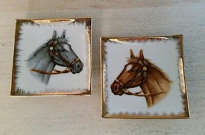 Vintage California Creations Horse Wall Plates By Bradley Japan Set Of 2