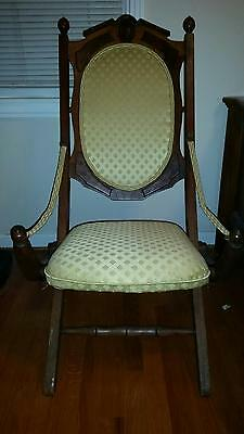 Victorian Folding Chair from the 1800's (VERY RARE & BEAUTIFUL)