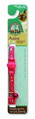 Petmate 0320214 Cat Fanciers Assoc. Breakaway Cat Collar 8-12-Inch Reflec Mag...