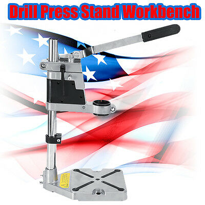 Plung Bench Clamp Drill Press Stand Workbench Repair Drilling Collet Workshop