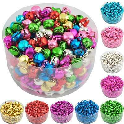 100PC 8x6mm Colorful Iron Beads Small Jingle Bells Craft DIY Jewelry Party Decor