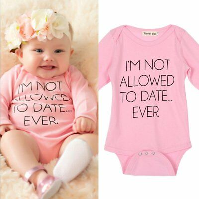 Toddler Kids Baby Girls Romper Jumpsuit Bodysuit Cotton Clothes Outfits 0-18M