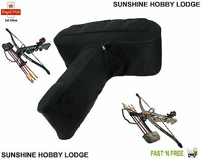 Large Padded Rifle Crossbow Xbow Case Carry Bag With Bolt Arrow Pocket New UK