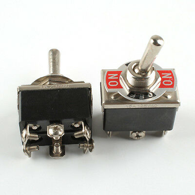 2pc Heavy Duty Toggle Switch DPDT On-Off-On Switch 6 Terminal Car Boat 20A 125V