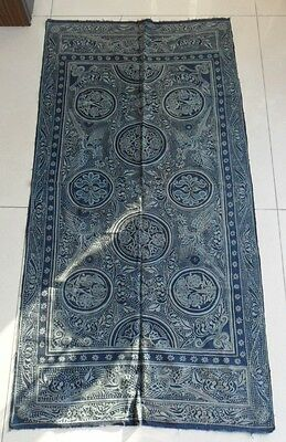Chinese miao people's old hand batik bedspread