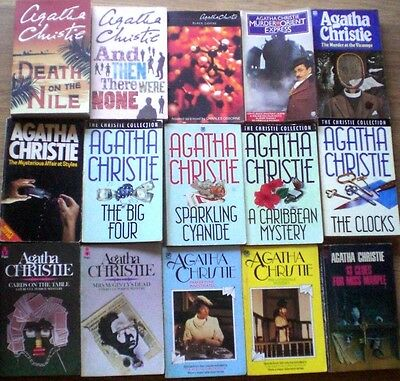 15 x AGATHA CHRISTIE Murder/Mystery p/bs- Most VGC - Bulk Wholesale Lot