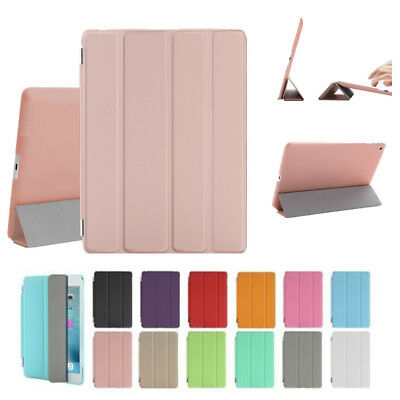 Magnetic Leather Slim Smart Stand Cover Hard Case for iPad 4 3 2 Min/ Air/ Pro