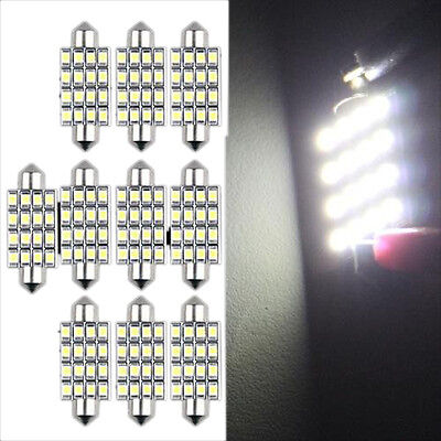 10 PCS 16 Torpedo Car Bulb LED SMD 3528 42 mm - White SH T0L0