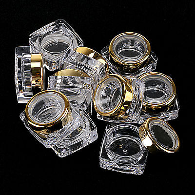 5 pieces Empty Nail Art Makeup Deco Glitter Gem Powder Bottle Jar 5G