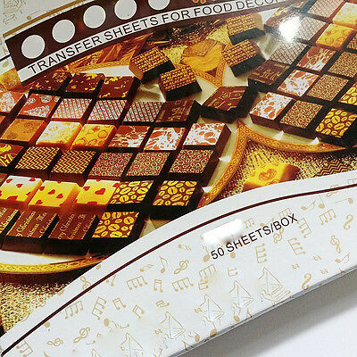 Colorful DIY Chocolate Transfer Sheet Food Decoration Paper Set(50 pcs)
