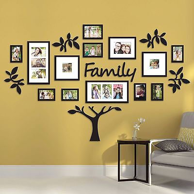 19 Piece Family Tree Wall Photo Frame Set Hanging Frames Picture