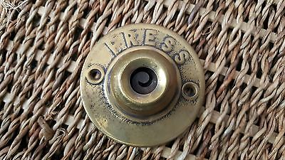 vintage brass door bell