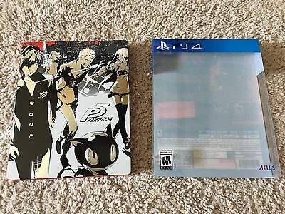 Video Games & Consoles No Game Disc Persona 5 Ps4 Playstation Steelbook Launch Edition Case Only