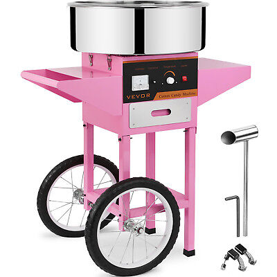 1030W Commercial Electric Cotton Candy Machine A Barbe A Papa Panier Rose