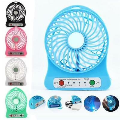 Great Portable Rechargeable LED Light Fan Air Cooler Mini Desk USB Fan mini up