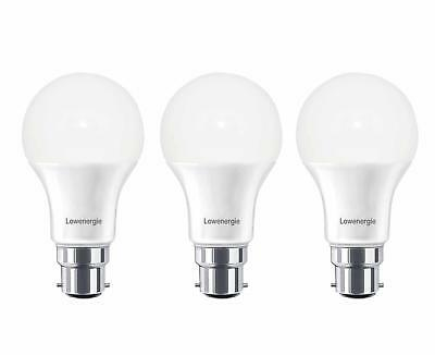 3X B22 7W LED Light Bulb 6000K Day White Bayonet GLS A+ Bright Lamp