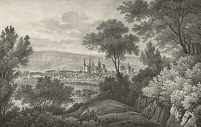 TRIER - Panoramaansicht - Lithographie um 1850