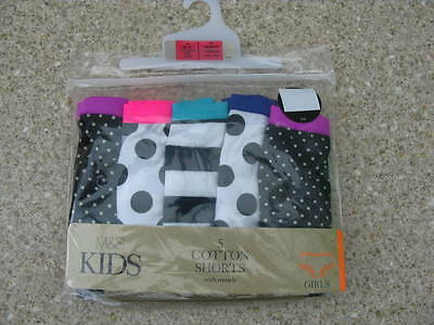 Girls MARKS AND SPENCER M&S 5 pack cotton pants shorts age 7 - 8 9 - 10