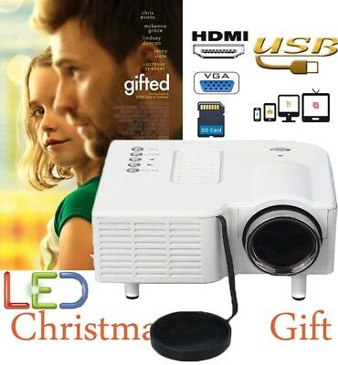 Portable LED Game Proyector Projector VGA USB HDMI Home Cinema Video PC TV Box