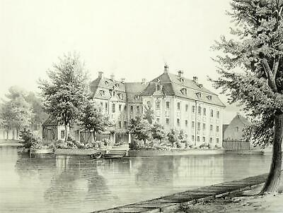 CANITZ in Riesa - Poenicke - Lithographie 1856