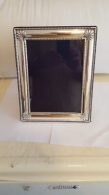 Carrs Victorian Readed Floral  pattern, Sterling silver - 10X8 Inch  Photo Frame