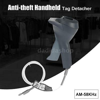 Gray ABS Handheld Security Magnetic Tags Detacher Remover Releaser AM-58KHz N4R9