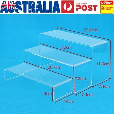AU 3Pcs Transparent Acrylic Shoes Display Stand Jewellery Rack Organiser Holder