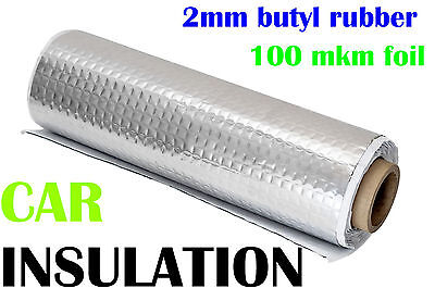 2.5 sqm Car Van Deadening Sound Proofing Damping Mat 2 mm