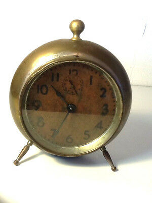 Antique Brass 3 Peg Leg Clock Pat 1898