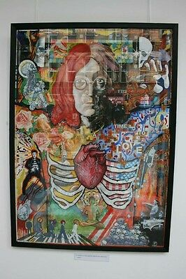 Framed John Lennon Original Collage Artwork