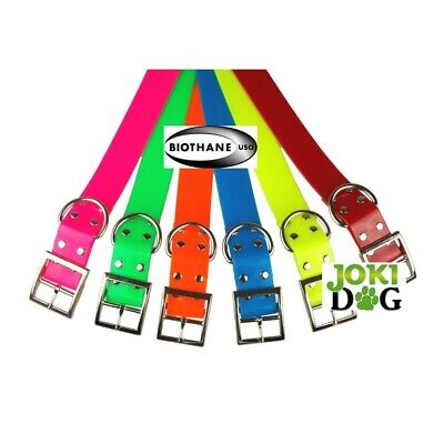 collier fluo biothane 38 mm