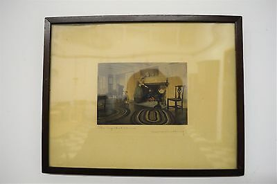 "WALLACE NUTTING Original Signed Colored Photo Art Print - Framed - 15"" x 12"""