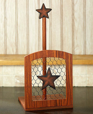 French Country Rooster Paper Towel Holder Rustic Western Star Paper Towel Holder