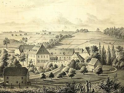 Köttewitz in Dohna - Poenicke - Lithographie 1856
